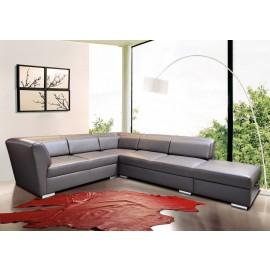s-9  05  Design Leder Ecksofa,  Lounge Eckcouch für Chefzimmer, Wartebereich und Besucherraum, sehr bequeme Polsterung, preiswert und schnelle Lieferung