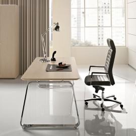 Seventies 04 Design Schreibtisch, zeitlos Sand-Lärche