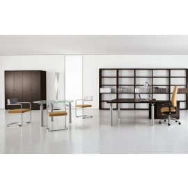 Studio 09 Chef Büromöbel, Schreibtisch, Schränke, offenes Regal Wenge