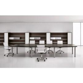 Studio 02 Chefzimmer Konferenztisch-besprechungstisch in Wenge, Aluminium Tischbeinen