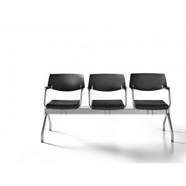 t-2 01 Wartezimmer-Sitzbank, Stuhl-Traverse mit Armlehnen