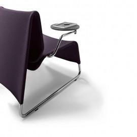 t-6/l-6 02 Wartesessel, Loungebereich Stuhl mit Armlehnen-Tisch drehbar
