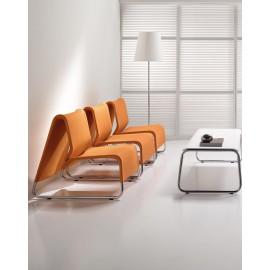 t-6  07 Design Wartezimmer Einrichtung, Bestuhlung mit Verbinder Möglichkeit Lounge