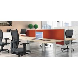 UP 07 Team Stand-Schreibtisch, höhenverstellbar mit Schallschutz, ergonomisch, rückenschonendes Arbeiten