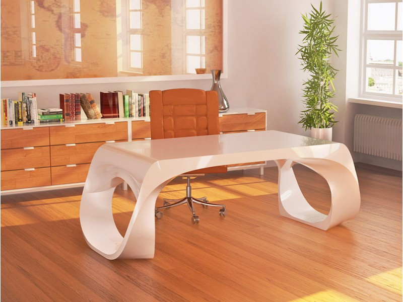 exklusiver Designer Schreibtisch - Chefmöbel Infinity