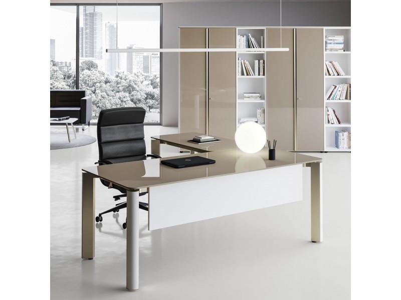 Büromöbel weiß grau  elegante Designer Büromöbel, Chef-Schreibtisch, hochwertig und ...