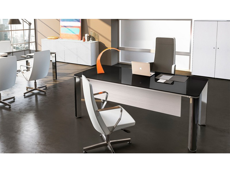 Moderne büromöbel weiss  exklusive Designer Büromöbel, Glas Chefschreibtisch, hochwertig und ...