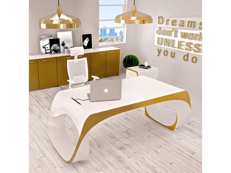 exklusiver designer schreibtisch chefm bel infinity. Black Bedroom Furniture Sets. Home Design Ideas
