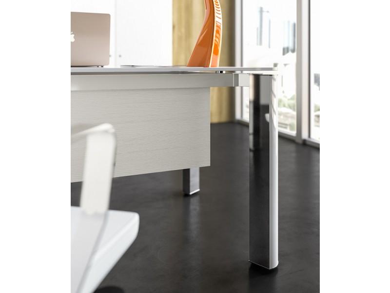Büromöbel weiß chrom  exklusive Designer Büromöbel, Glas Chefschreibtisch, hochwertig und ...