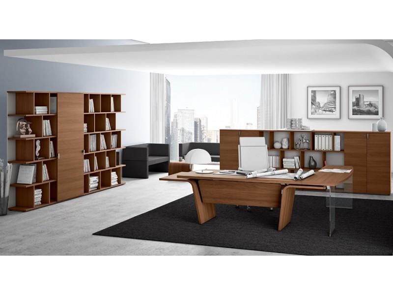 stilvoller Design Schreibtisch - Larus -, Tischgestell mit ...