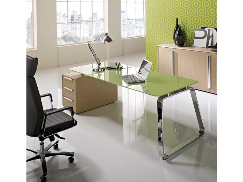 Büromöbel weiß chrom  Retro Design Schreibtisch, Retro Chef Büro Möbel - Seventies