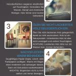 Infografik: So pflegen Sie ihre wertvollen Holzoberflächen